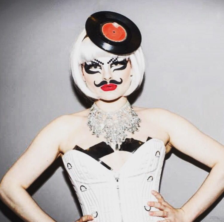 Photo Of A New Born Baby Wearing Heavy Makeup Goes Viral: French Moustache Record Headpiece Handmade Drag Queen