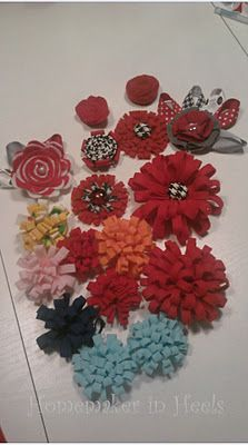 EASY (No-Sew) Fabric Flowers