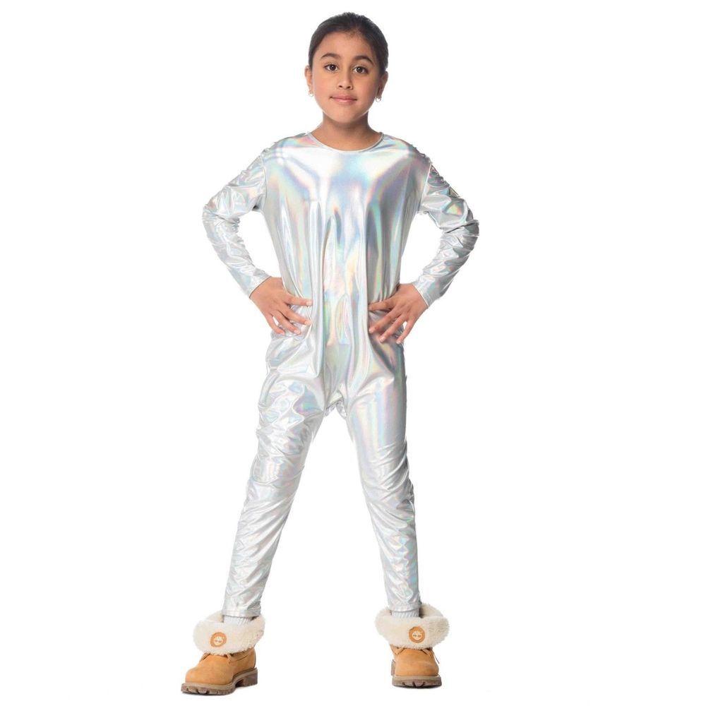 2727dfd7c5008 Child Girls Unicorn Iridescent Silver Rainbow Halloween Costume Jumpsuit  DIY #costumesforgirls #girlscostumes #kidscostumes