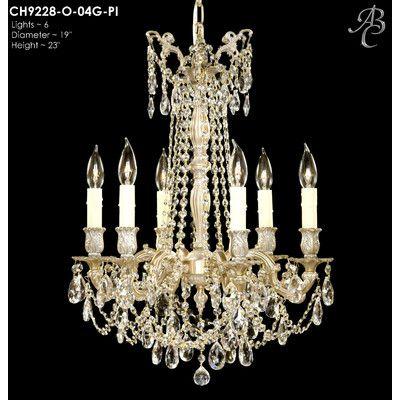 Biella 6 Light Crystal Chandelier Finish: Polished Brass with Black Inlay, Crystal: Precision Crystal Oval Clear - http://chandelierspot.com/biella-6-light-crystal-chandelier-finish-polished-brass-with-black-inlay-crystal-precision-crystal-oval-clear-589733648/