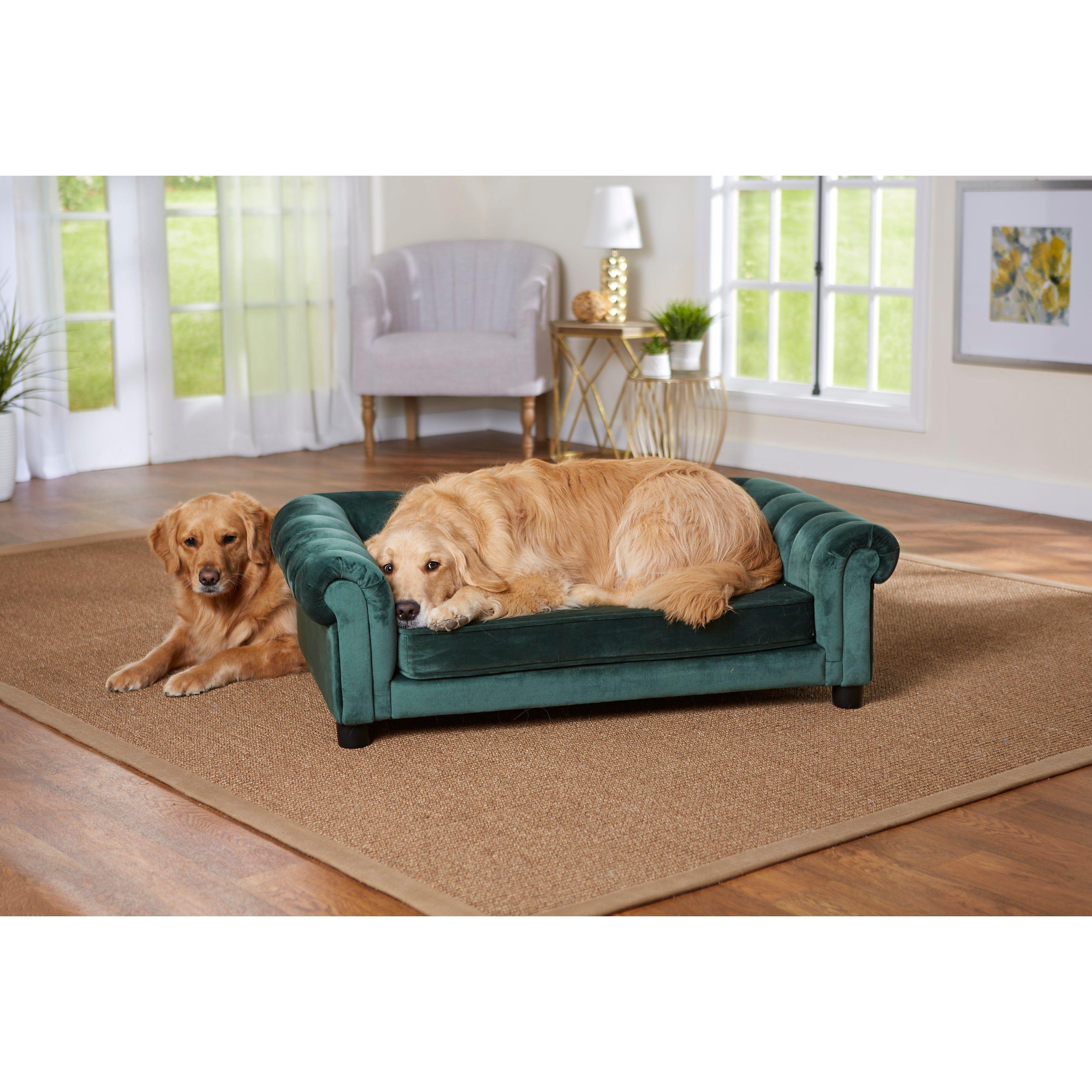 Enchanted Home Pet Sullivan Pet Sofa Emerald, Green