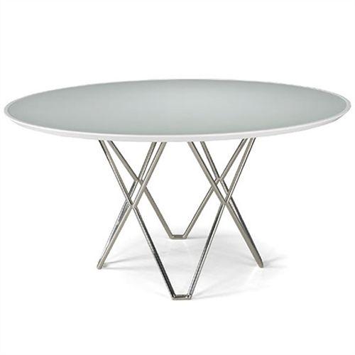 No meu cafofo. Mesa para Sala de Jantar Redonda Kin Branca 75x80.
