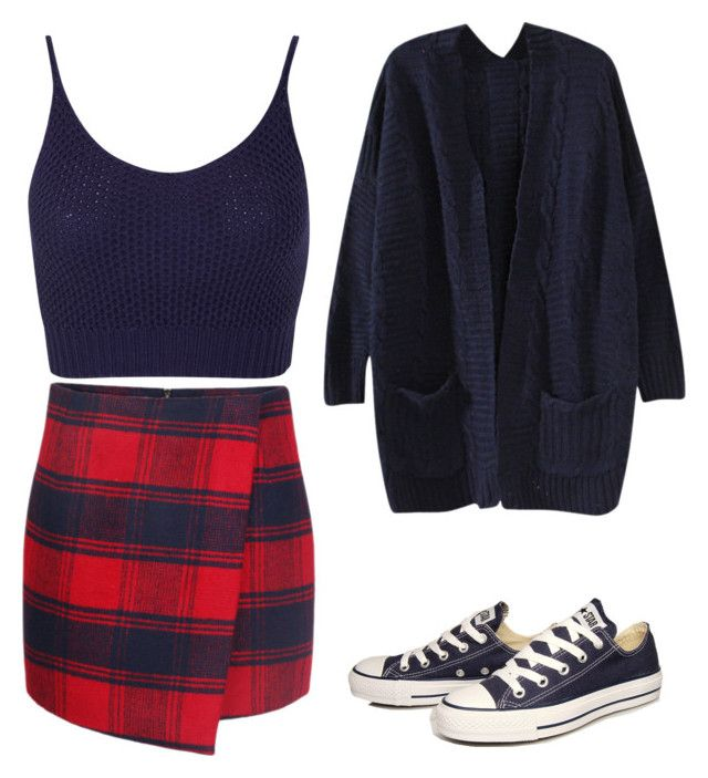"""""""Formal Made Casual"""" by craftylafty73 on Polyvore featuring Miss Selfridge and Converse"""