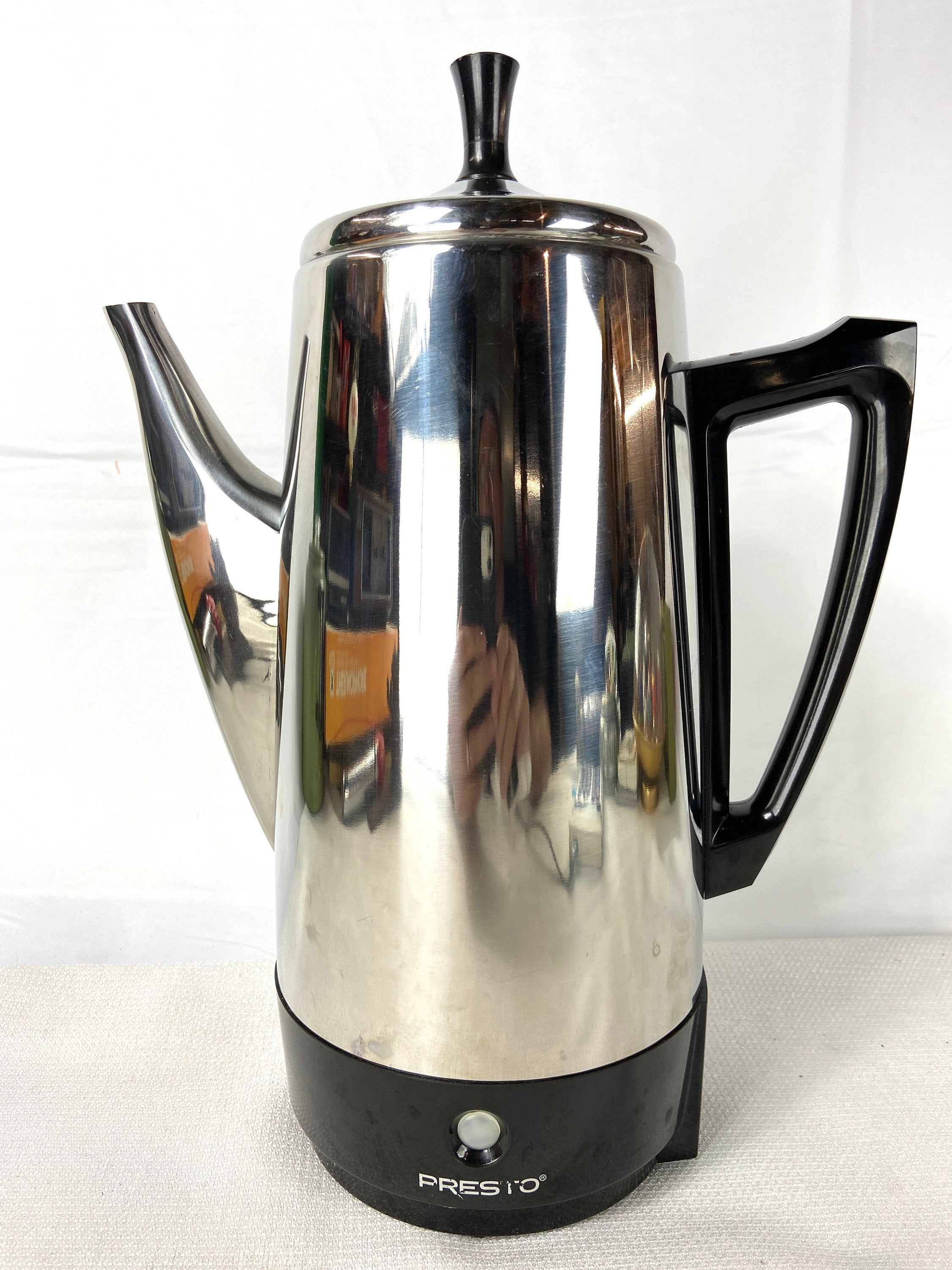 Presto 12 Cup Electric Coffee Percolator Model 0281105 Series 3515 In 2020 Percolator Coffee Percolator Electricity