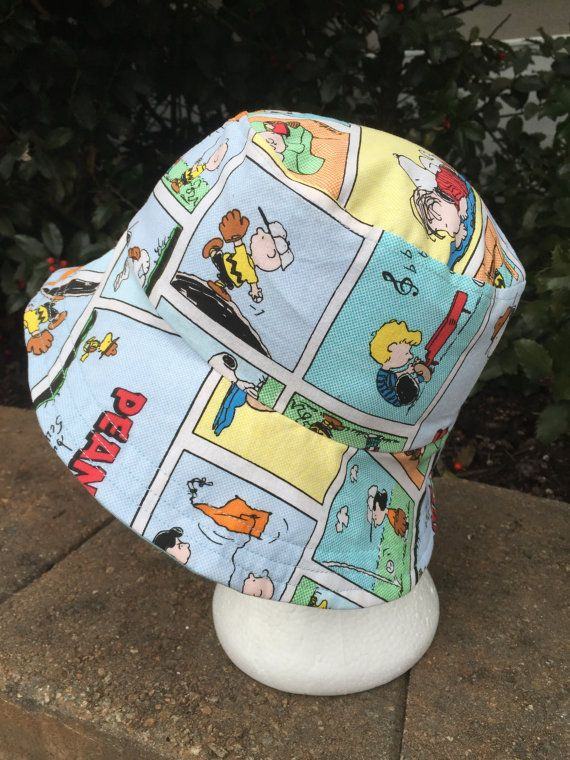 6b762ad69f2 Peanuts Hat Reversible Bucket hat. Snoopy. Bucket hat. Sun Hat ...