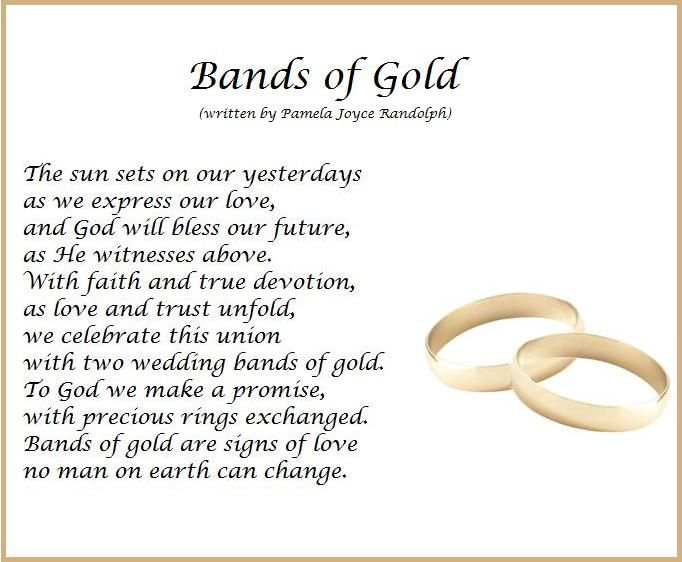 Bands Of Gold An Original Wedding Poem About Marriage Written By