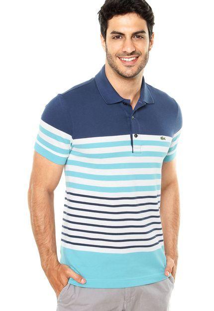 7a4a8a2429f1b Camisa Polo Lacoste Multicolorida - Marca Lacoste   Listras ...