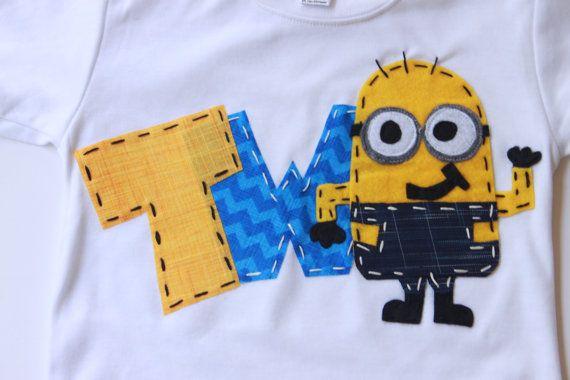 Minion Birthday Shirt 2 Two Girl Boy T On Etsy 2699
