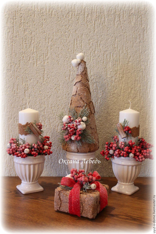 Купить Эксклюзивный новогодний набор для декора - зеленый, хвоя, Новый Год, подарок на новый год