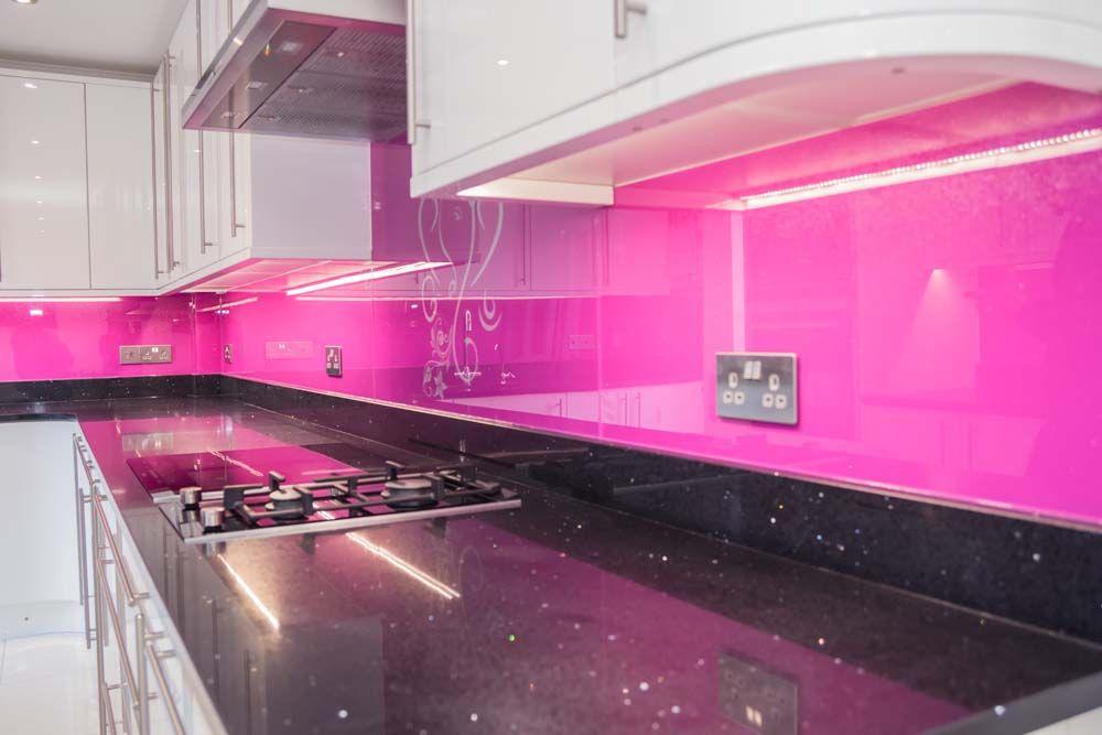 Telemagenta Pink Kitchen Glass splashback IMG_7780 | Home is where ...
