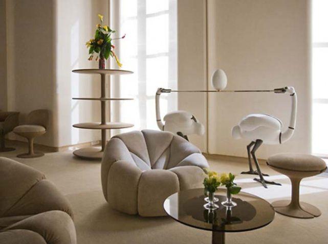 designer conna tre pierre paulin elle d coration interiors living rooms and vintage. Black Bedroom Furniture Sets. Home Design Ideas