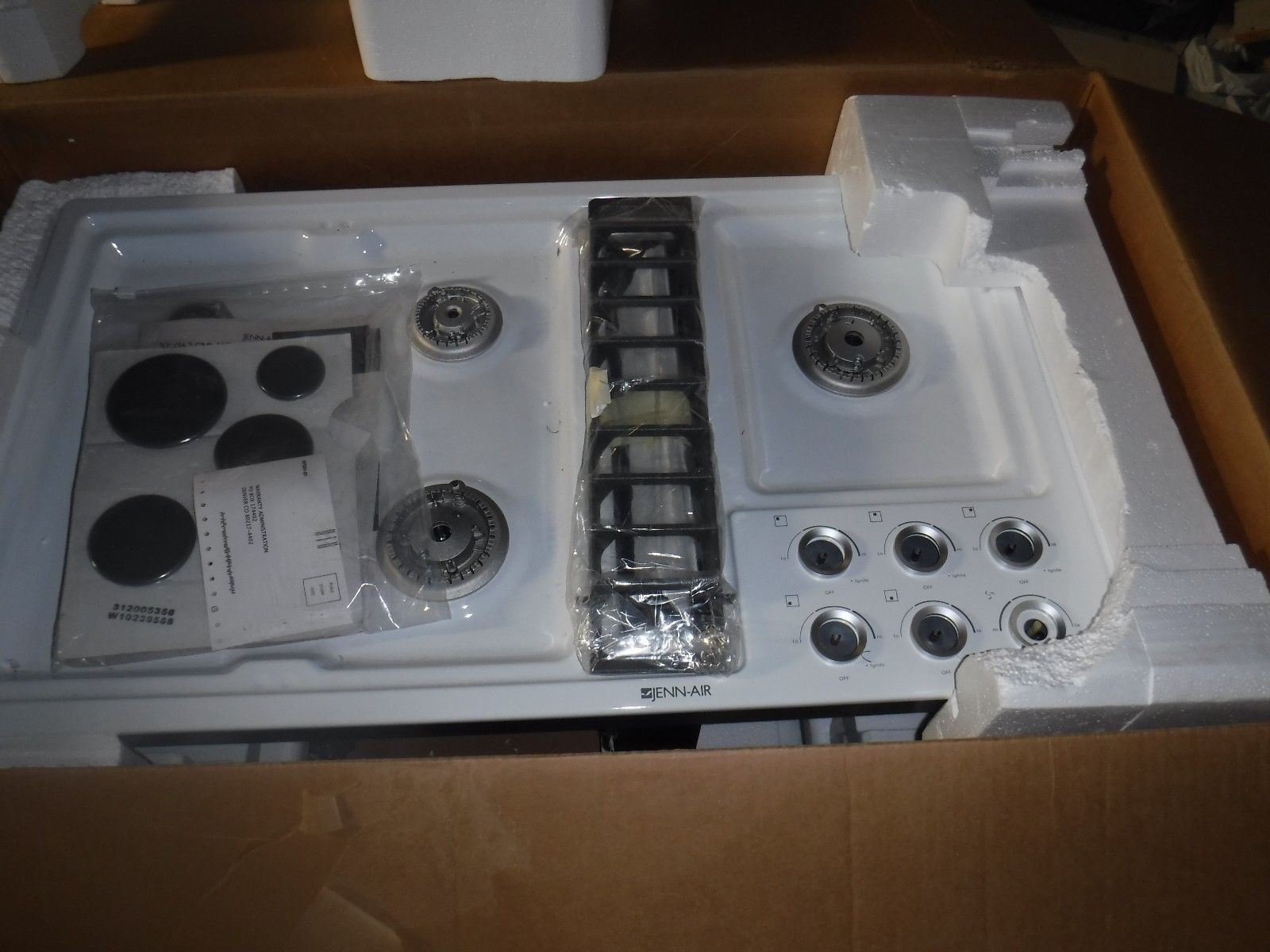 jenn air downdraft gas cooktop jgd3536bw00 white 36 inch