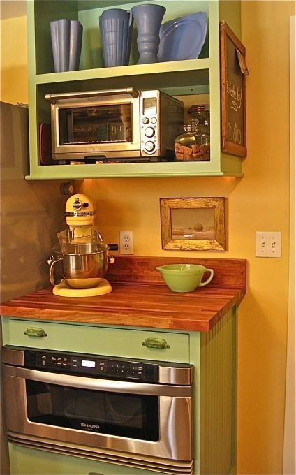 Pin By Amy Kade On Kitchens Dining Rooms And Tableware In 2020 Rustic Cabin Kitchens Cabin Kitchens Microwave Shelf