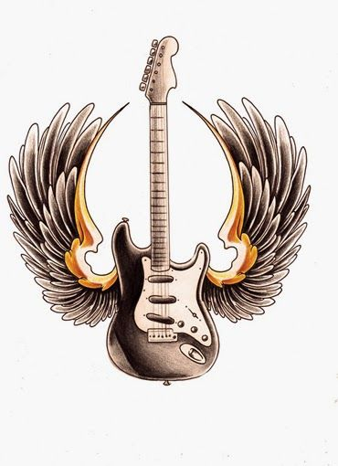 Stratocaster Guitar Clipart Guitar Tribal Tattoo Designs Com
