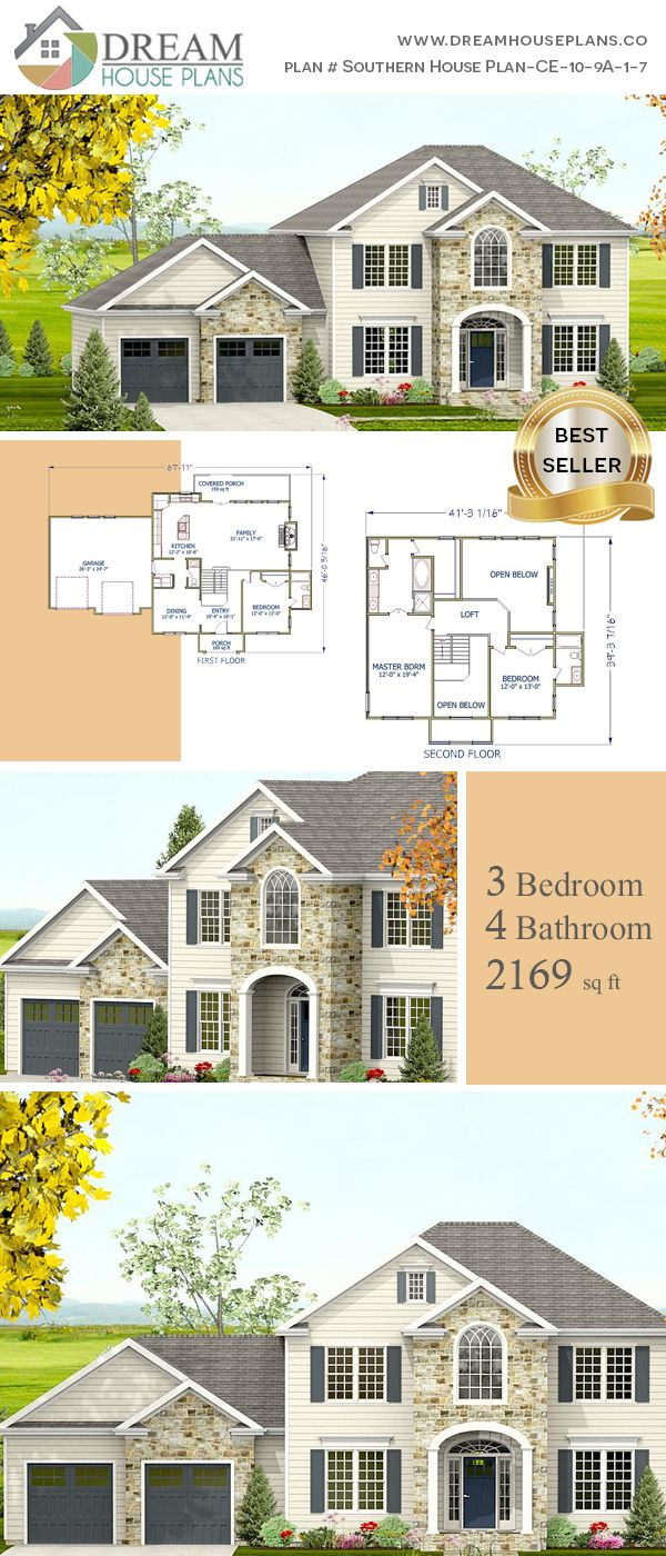 Dream house plans simple yet luxury colonial bedroom sq ft