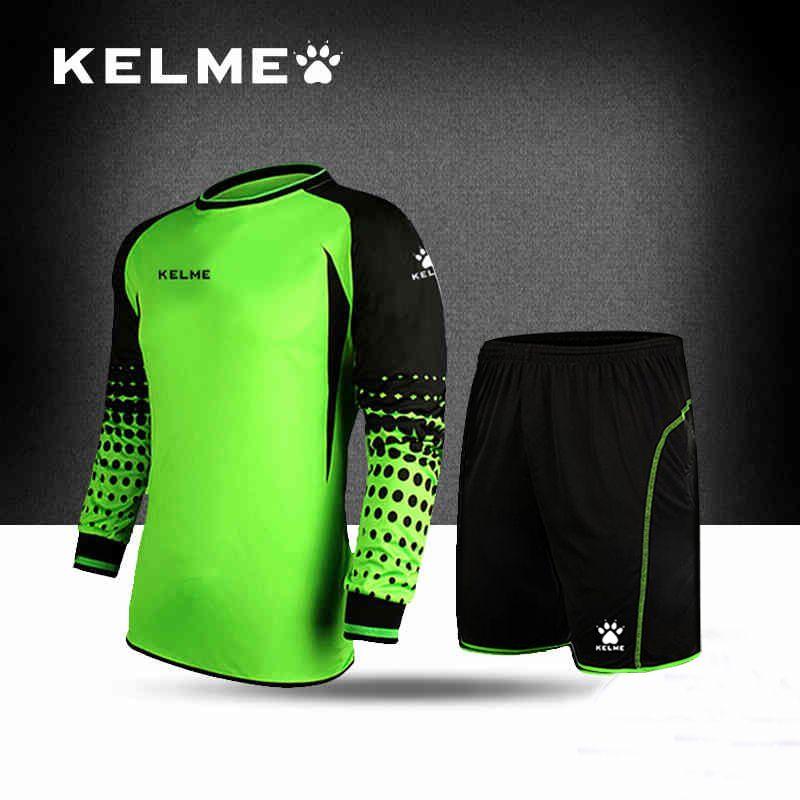 af1cb02cd44 KELME Goalkeeper Men Soccer Jerseys Sets Long Sleeve T-shirt Shorts  Doorkeepers Survetement Football Sponge Protector K15Z209-1 Price: 49.52 &  FREE Shipping ...