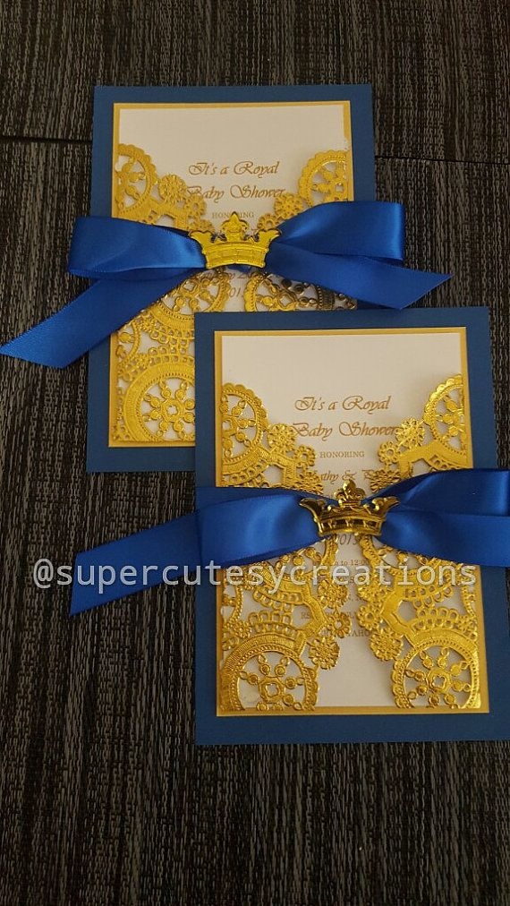 Royal Prince Baby Shower Invitations ******Min Order of 20 ...