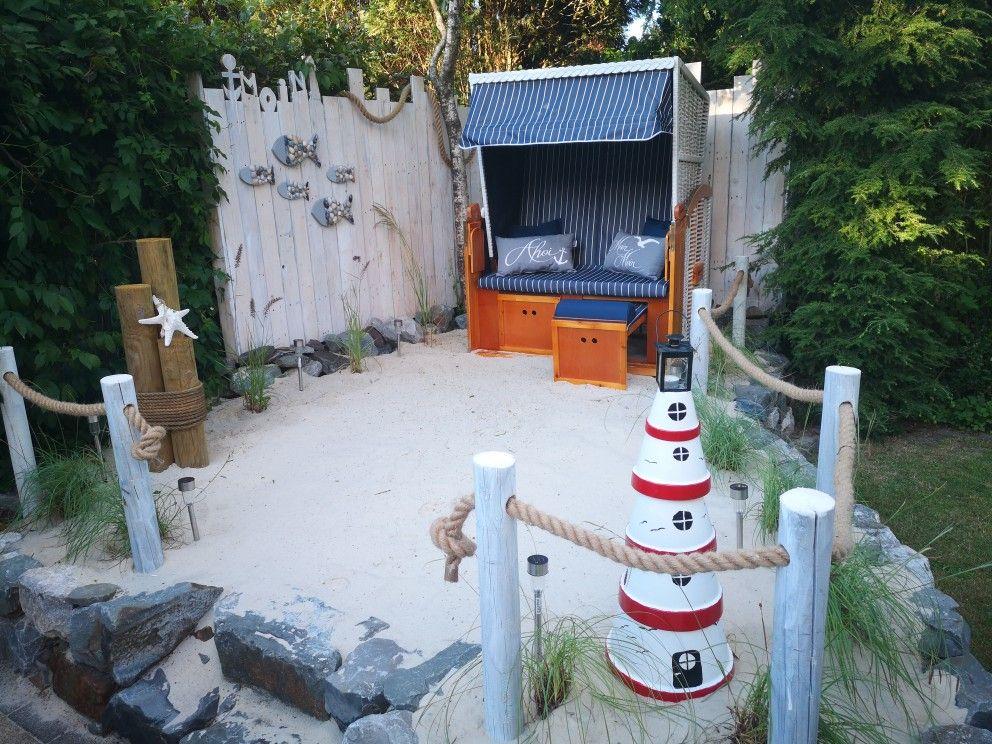 Strandkorb Ecke Diy Gartenprojekte Garten Garten Design