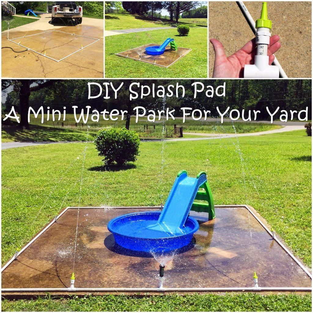 Diy splash pad a mini water park for your yard splash