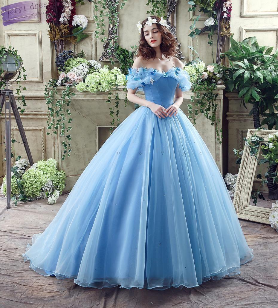 Barato 2016 Em Armazém Barato Novo Luxo Cinderella Vestidos De ...