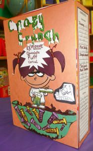 Cereal box book reports interesting project idea for for Cereal box project for school