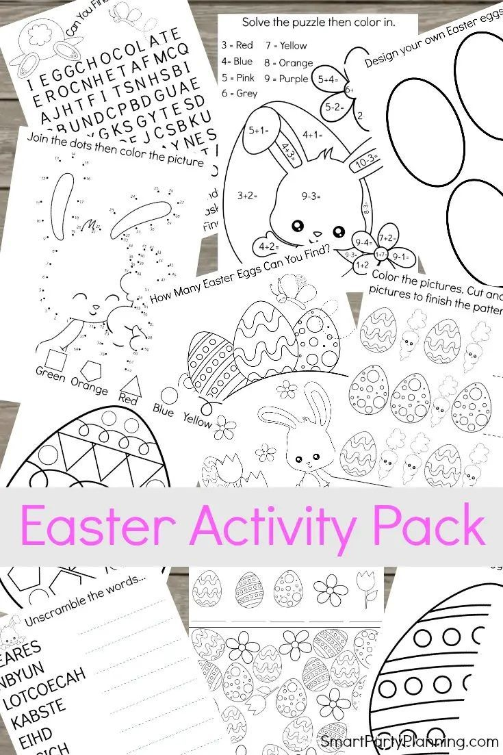 Printable Easter Activity Pack Printable Easter Activities Easter Activities Easter Printables Free [ 1103 x 735 Pixel ]