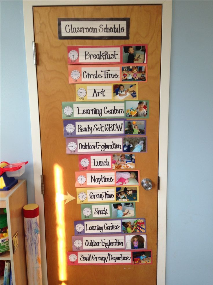 Classroom Design And Routines ~ Daily picture schedule from a classroom at our school in
