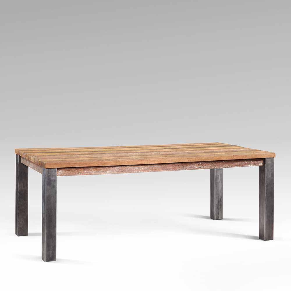 Design Esszimmertisch aus Teak Recyclingholz Metall Jetzt bestellen ...