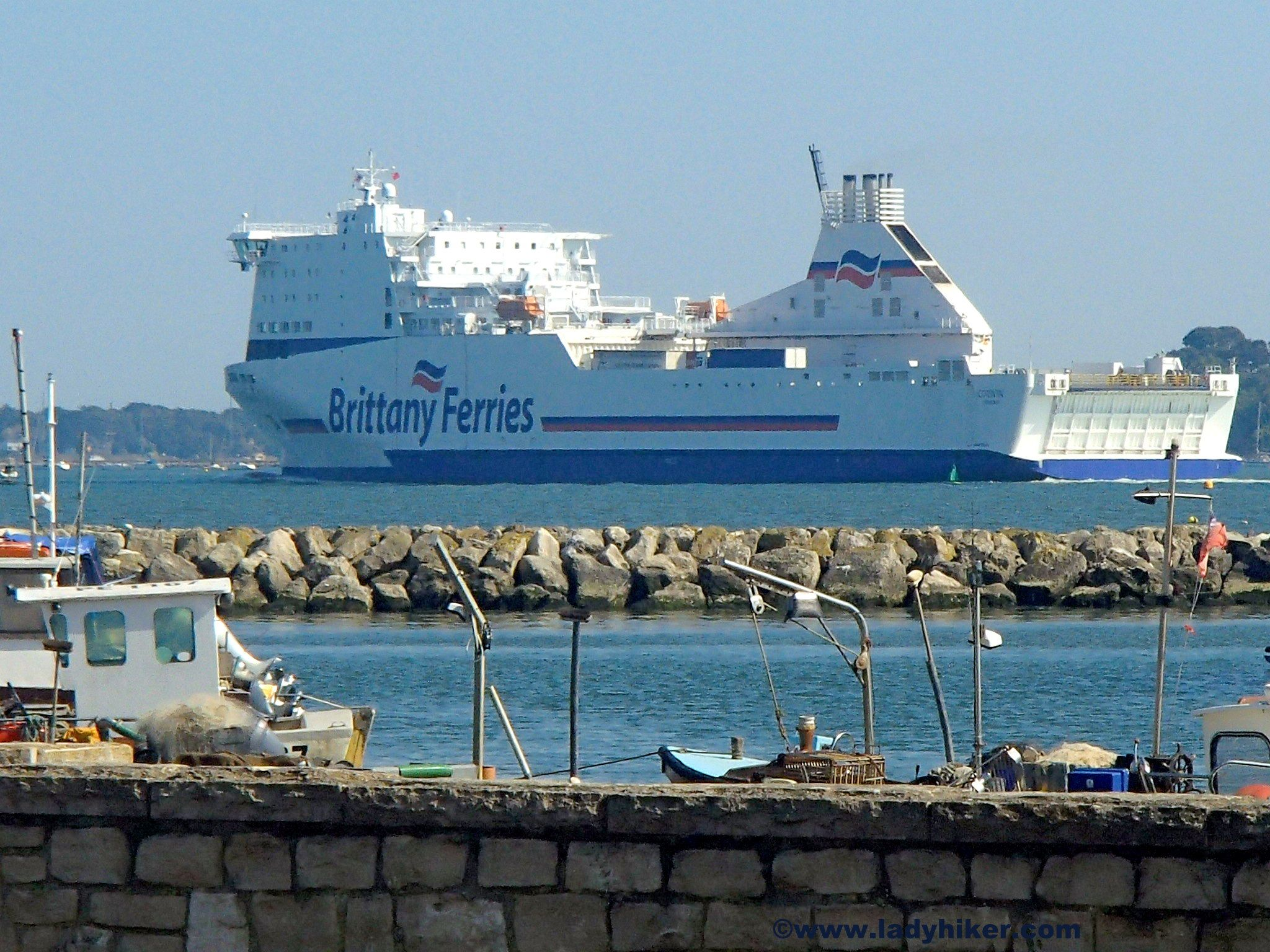 Brittany ferries leaving Poole en route to France http://ladyhiker.com/sheltering-schooners-spanking-rituals-and-luscious-loos/