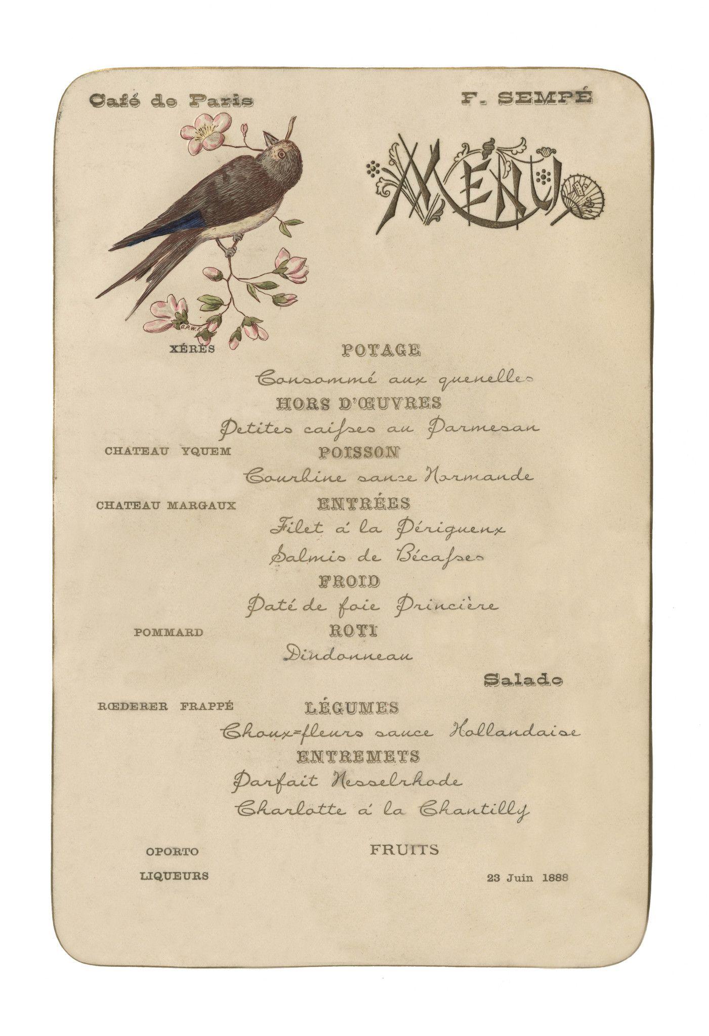 Café de Paris (Bird), Buenos Aires, June 1888 Vintage
