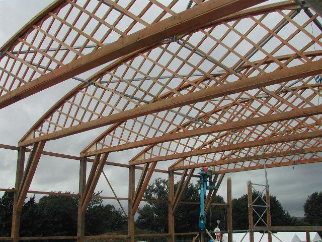 Wood Lattice Truss Steel Structure Buildings Lattice