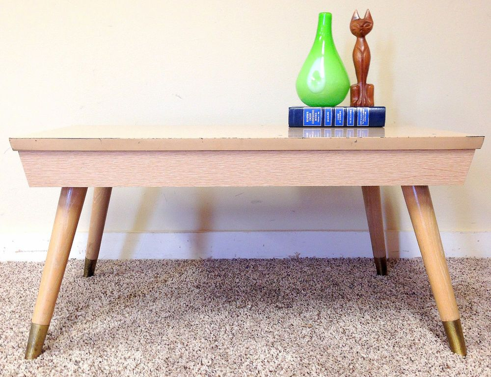 Vintage Mid Century Modern Coffee Table Small End Side Table Blonde Wood Formica Midcenturymo Mid Century Modern Coffee Table Small Wood Desk Blonde Wood Desk