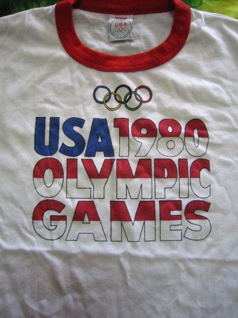 Vtg Rare Levi's USA  1980 Olympics Games TShirt by Voodoobundle, $159.00
