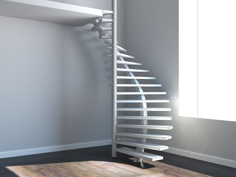 Best 3D Model Spiral Staircase Stair Diseño De Escalera 400 x 300