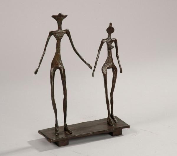Souvent Diego GIACOMETTI (1902 - 1985) - Le couple, modèle circa 1957  KY46