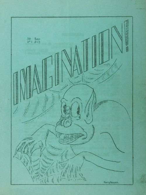 Fanzine cover by a young Ray Harryhausen, 1938.