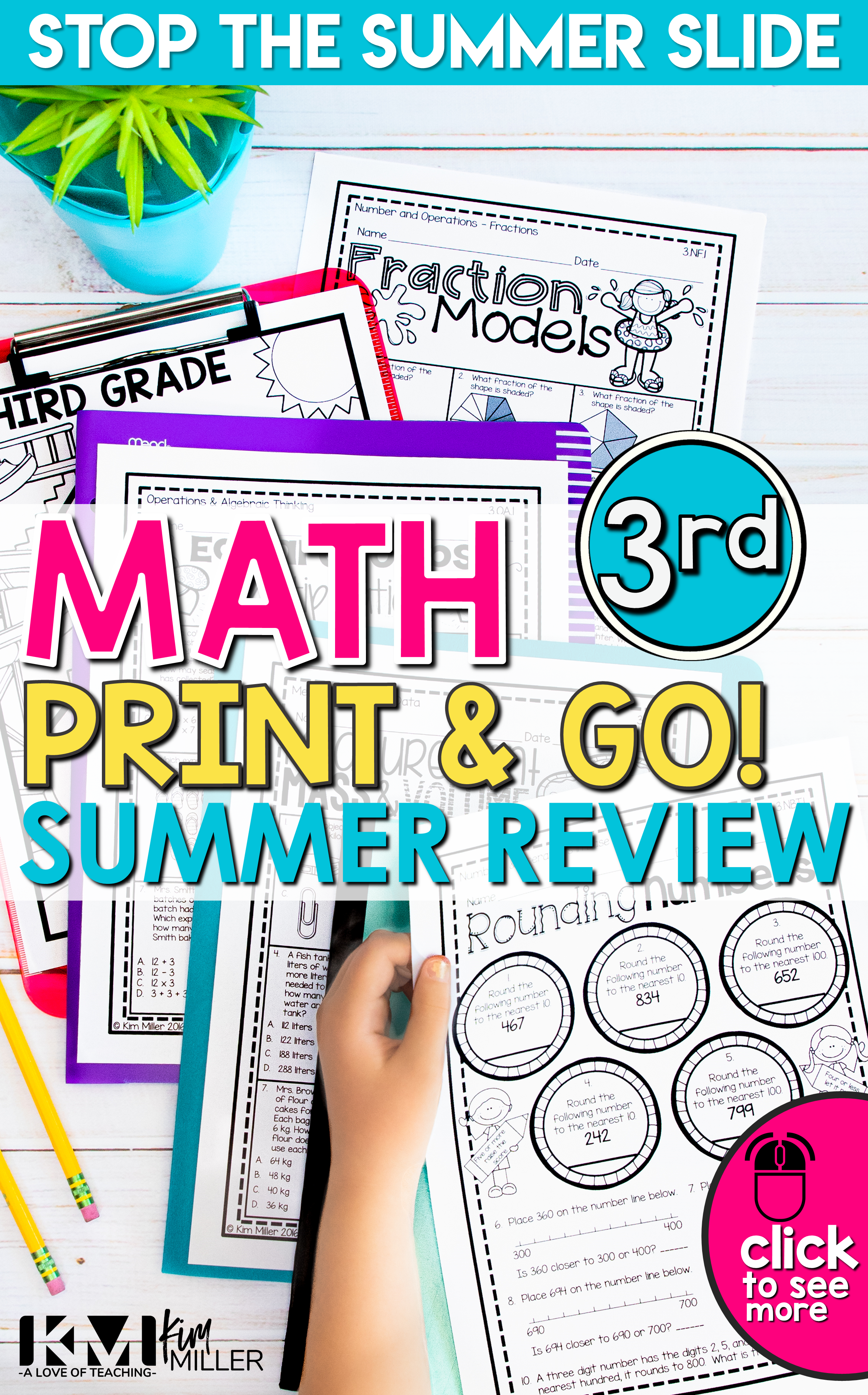 Math Review Printable Packet Distance Learning Summer Grade 3 in 2020   Third  grade math worksheets [ 3750 x 2334 Pixel ]