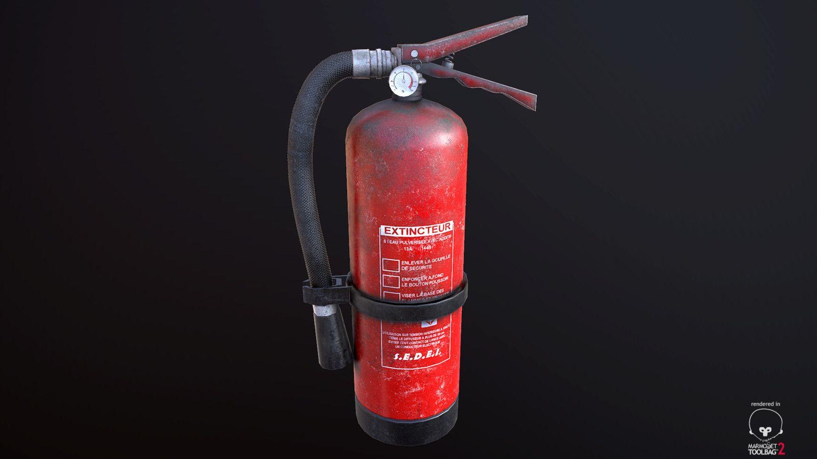 Extinguisher, Yohan Talbi on ArtStation at https://www.artstation.com/artwork/kz45y