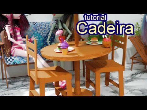 Como fazer uma cadeira com palito de picolé para boneca Barbie, Monster High, Frozen e outras - YouTube