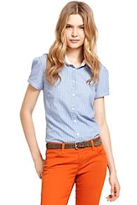 MULTI STRIPE SHORT SLEEVE OXFORD $28.00  Tommy Hilfiger but I think I could recreate this look easily