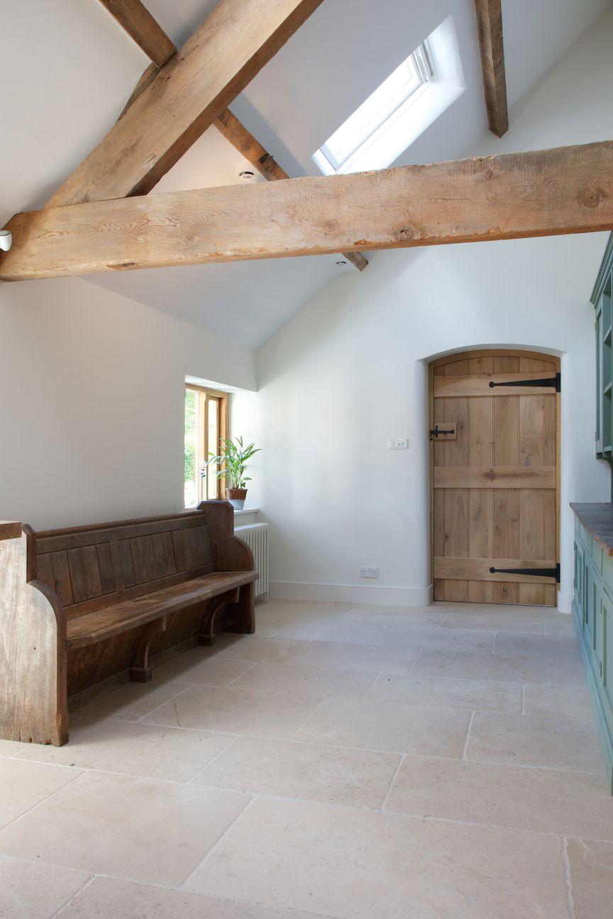 Beautiful hallway in a barn conversion using hardwearing ...