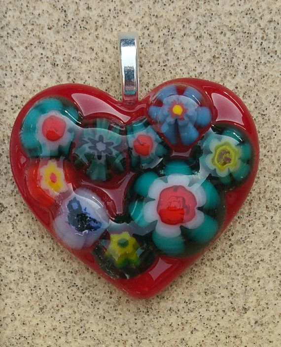 Check out this item in my Etsy shop https://www.etsy.com/listing/453213946/fused-glass-jewelry-pendant-red-heart