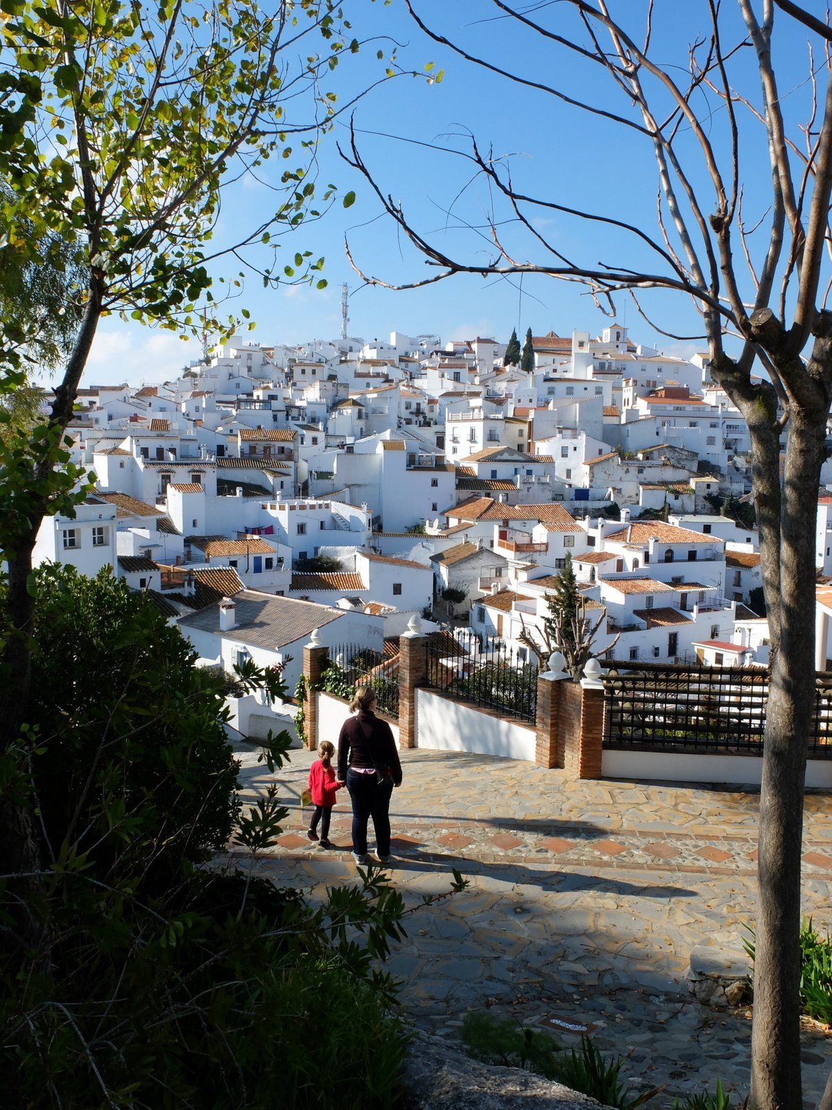 Comares, village blanc perché (Comares / Andalousie / Espagne)