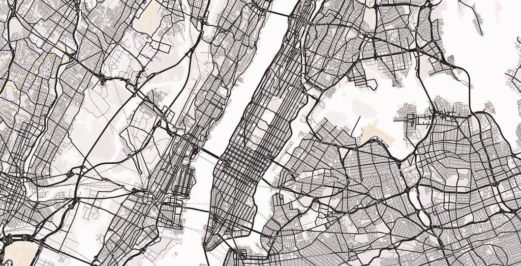 New York City Map Wallpaper Custom Sizes And Colours And Great Prices City Map Art New York City Map Map Wallpaper
