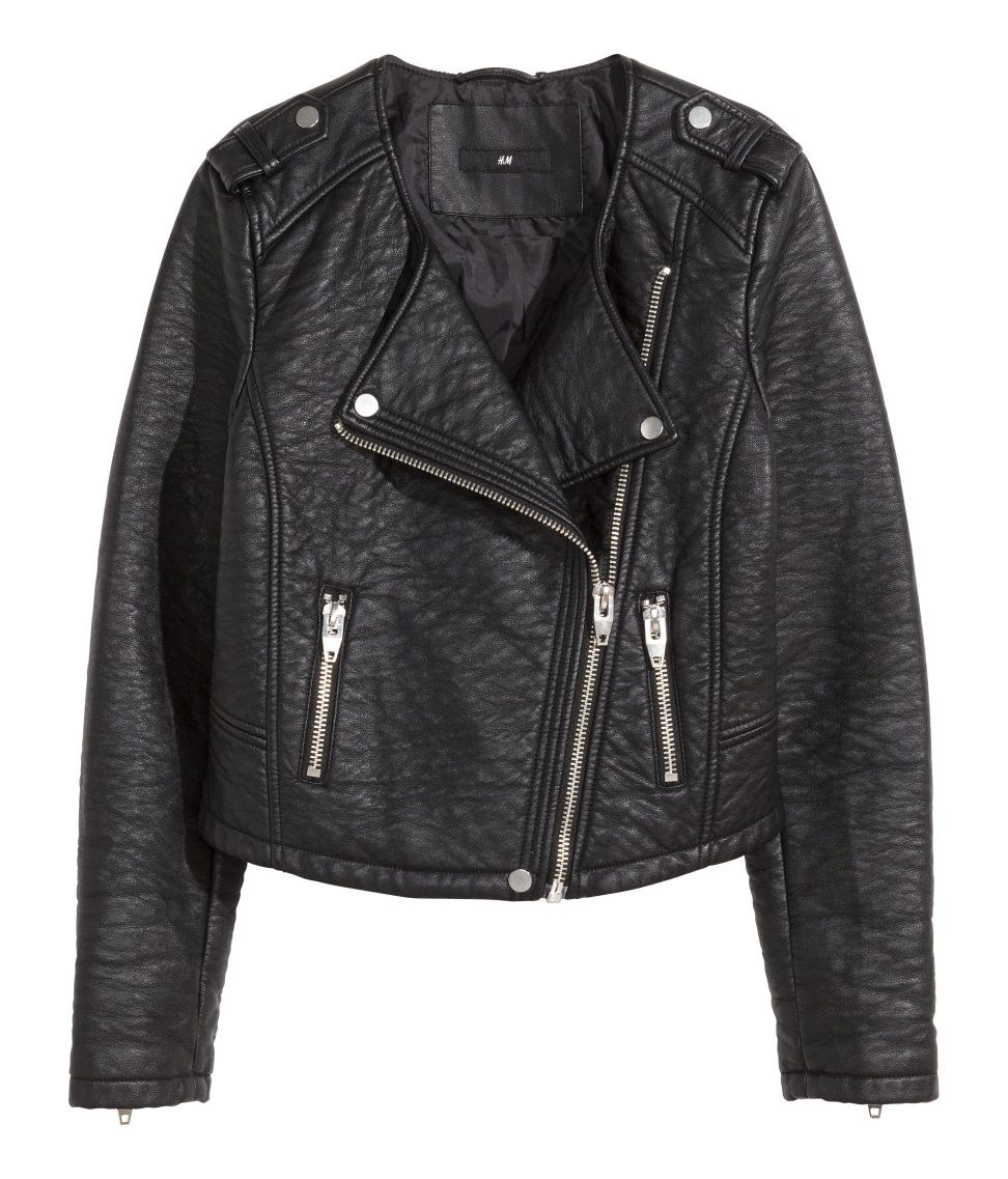 Product Detail H&M US (With images) Leather jackets