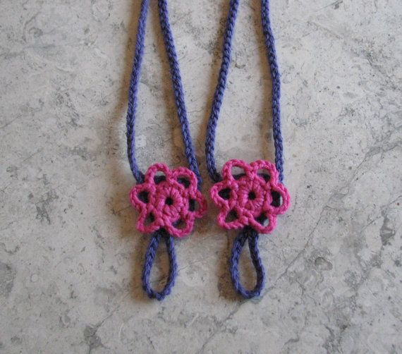 Bright Pink and Purple Crochet Barefoot Sandals