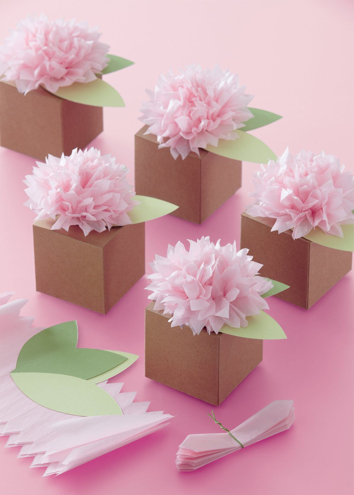 Party Favors Pom Pom Flowers Match Hanging Tissue Decor Makes 6