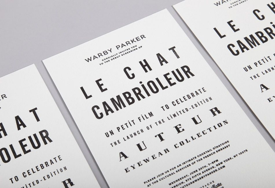 Font is Bastard - Warby Parker - Le Chat Cambrioleur - MULTIPLE FONT ...