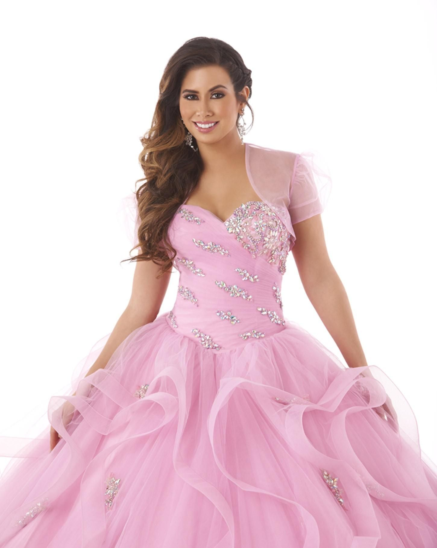 92ed6302efd Pink Tulle Sweetheart Quinceanera Dresses Two Pieces Beaded Crystal  Sleeveless Lace Up Ball Gown Floor Length Formal Dress For 16year Custom  Orange ...