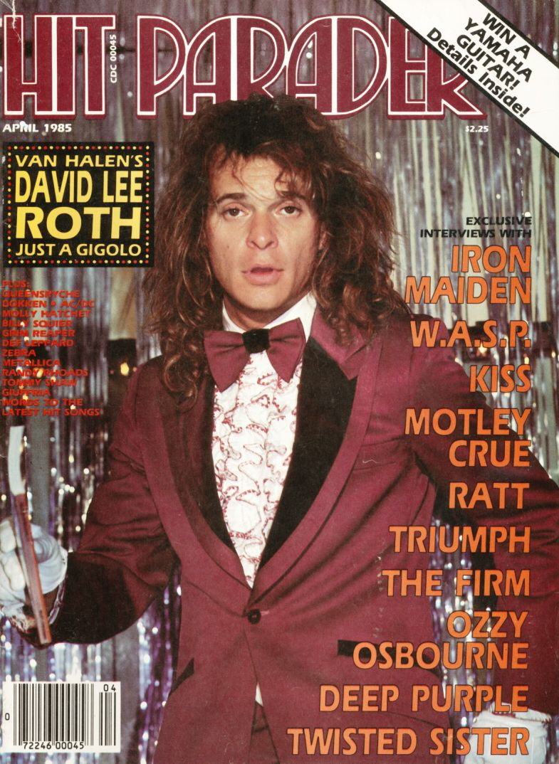 Hit Parader David Lee Roth April 1985 Jpg 785 1074 Musica